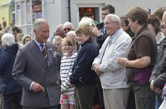 HRH visited aberaeron Stock Images