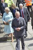 HRH visited aberaeron Royalty Free Stock Photos