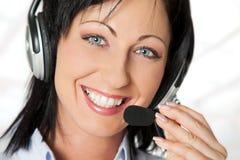 Hriendly operator headphones Stock Photos
