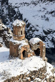 Hripsime Monestry in Ani ancient city, Kars, Turkey. Hripsime Bakireler Monestry in Ani is a ruined medieval Armenian city now situated in the Turkey`s province Royalty Free Stock Image