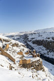Hripsime Monestry in Ani ancient city, Kars, Turkey. Hripsime Bakireler Monestry in Ani is a ruined medieval Armenian city now situated in the Turkey`s province Royalty Free Stock Photo