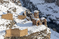 Hripsime Monestry in Ani ancient city, Kars, Turkey. Hripsime Bakireler Monestry in Ani is a ruined medieval Armenian city now situated in the Turkey`s province Stock Photos