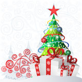 Сhristmas backdrop Stock Photos