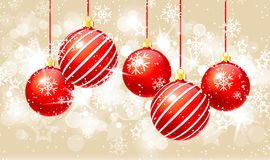 Сhristmas background with baubles Royalty Free Stock Images
