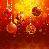 �hristmas background with baubles. EPS 8 Stock Image