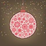 �hristmas background with christmas ball. EPS 8 Stock Photo