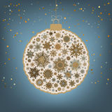 �hristmas background with christmas ball. EPS 8 Royalty Free Stock Photos