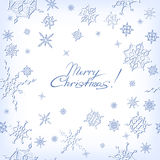 Сhristmas background with snowflakes Stock Photo