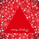 Сhristmas background with snowflakes Royalty Free Stock Photo