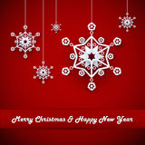 Hristmas background with snowflakes Stock Images