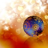 �hristmas ball on abstract light background. Royalty Free Stock Photos