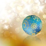 Сhristmas ball on abstract light background. Royalty Free Stock Photo