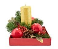 Сhristmas candle Stock Photos