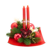 Сhristmas candle Royalty Free Stock Image