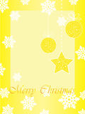 Сhristmas card with baubles Royalty Free Stock Photo