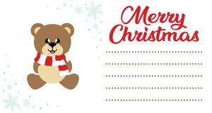 Hristmas de Kerstman en Ñ  van beeldverhaalkerstmis dragen zittend op de Kerstmisbrief aan santa royalty-vrije illustratie
