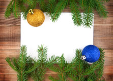 �hristmas decoration with greeting card Royalty Free Stock Images