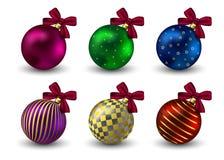 Hristmas di inverno di festa del fondo delle palle di Natale Immagine Stock Libera da Diritti
