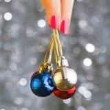 Сhristmas disco balls Royalty Free Stock Images