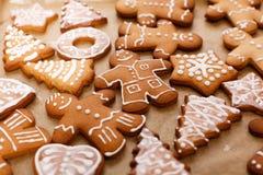 Сhristmas gingerbread man. Сhristmas  gingerbread  man on baking sheet Royalty Free Stock Photo