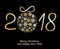 Hristmas greeting card 2018 Stock Images