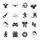 ?hristmas 16 icons universal set for web and mobile. Flat Stock Photography