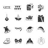 ?hristmas 16 icons universal set for web and mobile. Flat Stock Photos