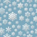hristmas naadloos patroon van document sneeuwvlokken Eps 10 vector illustratie