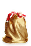 Сhristmas sack full of presents Royalty Free Stock Photo