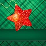 �hristmas stars on green background. EPS 8 Royalty Free Stock Photo