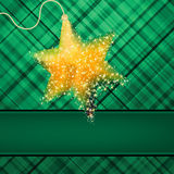 Сhristmas stars on green background. EPS 8 Royalty Free Stock Photos