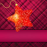 �hristmas stars on red background. EPS 8 Royalty Free Stock Image