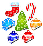 Сhristmas stickers Stock Photo