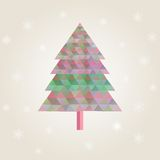 Сhristmas tree with colorful triangle diamonds Stock Images