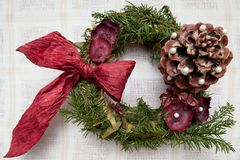Hristmas wreath Royalty Free Stock Image
