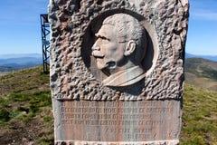 Hristo Botev monument i maximala Kom, Bulgarien Fotografering för Bildbyråer