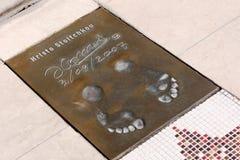 Hristo Stoichkov's footprints Royalty Free Stock Images