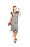 härlig affärskvinnadagbokpenna Arkivfoton