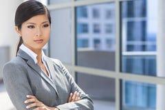Härlig asiatisk kinesisk kvinna eller affärskvinna Arkivbilder