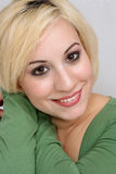 härlig blond headshot 5 Royaltyfria Foton