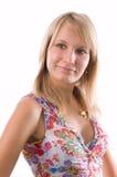 härlig blondin Royaltyfri Foto