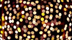 Härlig bokeh av stearinljusljus Arkivfoto