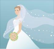 härlig brudklänning Arkivbilder