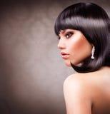 härlig brunettflicka Royaltyfri Fotografi