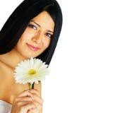 härlig brunnsortkvinna Royaltyfria Bilder