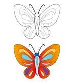 härlig fjäril Arkivfoton