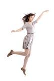 Härlig flicka i rörelse Royaltyfri Fotografi