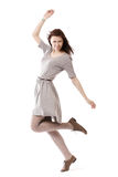 Härlig flicka i rörelse Arkivfoto