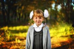 härlig flickaschoolgirl Royaltyfria Bilder