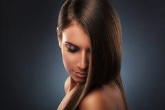 Härlig hårstil Arkivfoton